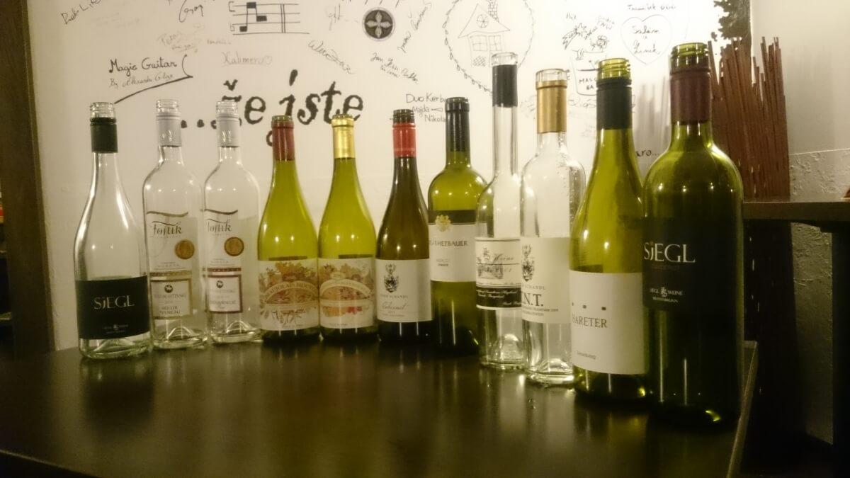 Degustace vín z Burgenland a mladých vín (Beaujolais a Svatomartinské)