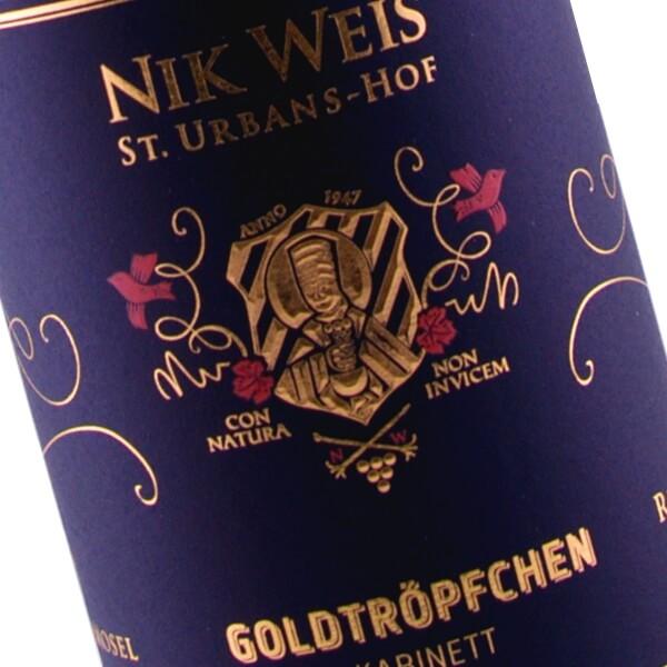 Goldtröpfchen Kabinett Grosse Lage Fruchtige 2015 (Nik Weis St. Urbans-Hof)