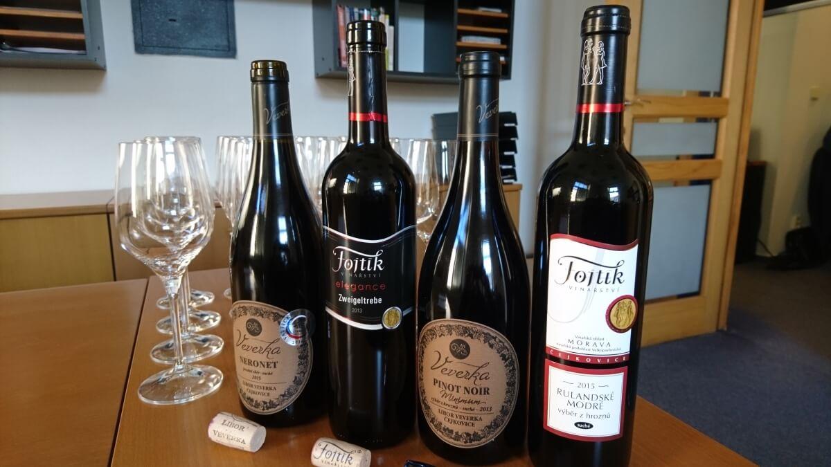 Degustace vín z Čejkovic