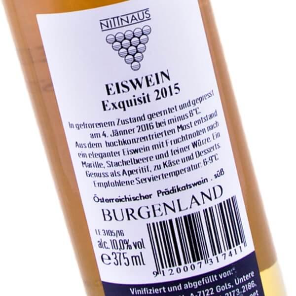 Eiswein Exquisit 2015 (Weingut Hans und Christine Nittnaus)