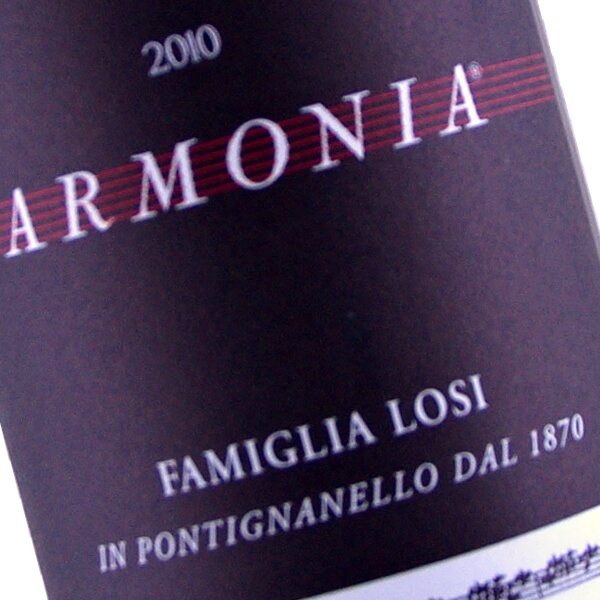Armonia IGT (100% Sangiovese Grosso) 2010 (Famiglia Losi)
