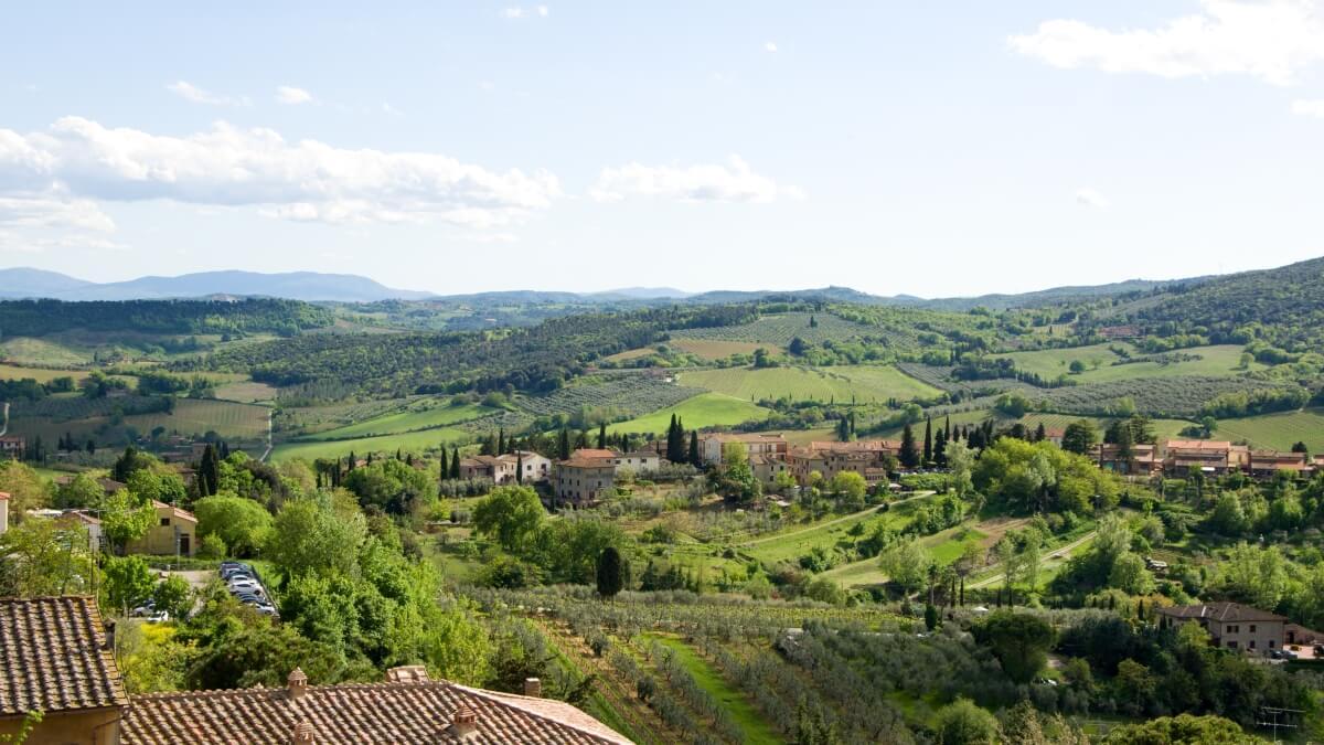 San Gimignano - výhled do okolí