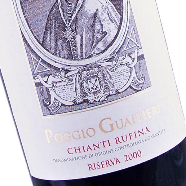 """Chianti Rufina Riserva """"Poggio Gualtieri"""" 2000 (Fattoria di Grignano)"""