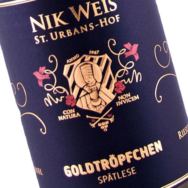 Goldtröpfchen Riesling Spätlese 2016 (Nik Weis St. Urbans-Hof)
