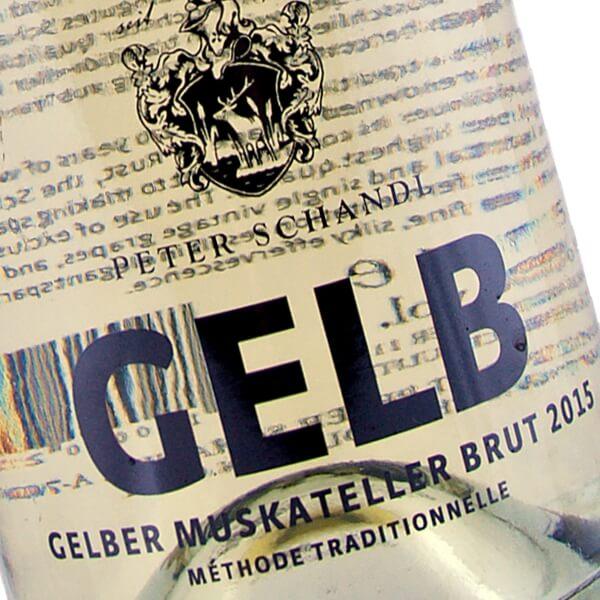 """""""Gelb"""" Gelber Muskateller Sekt 2015 (Weingut Peter Schandl)"""