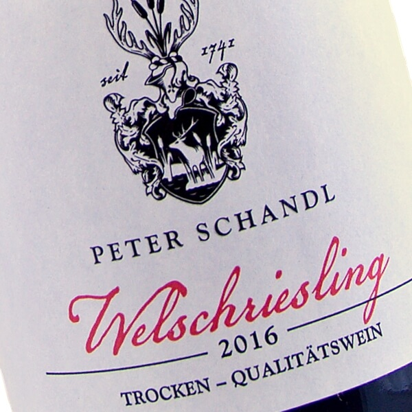 Welschriesling 2016 (Weingut Peter Schandl)