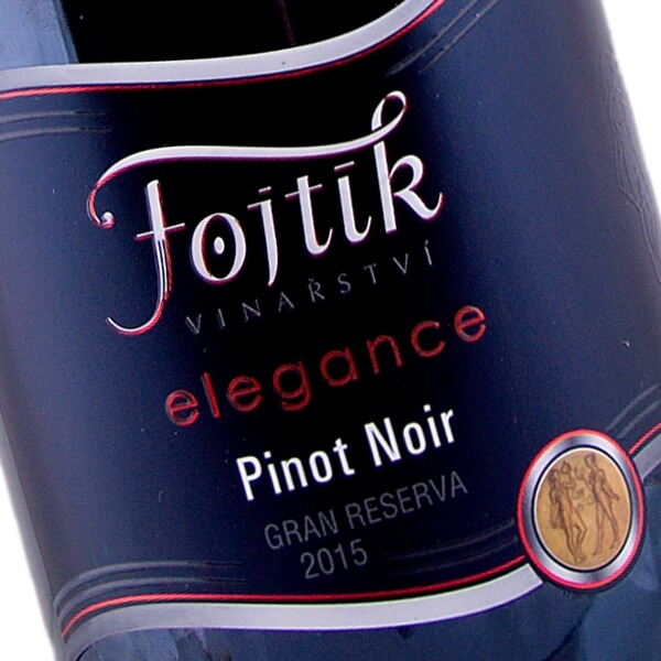 Pinot noir elegance Gran Reserva výběr z hroznů suché 2015 (Vinařství Fojtík)