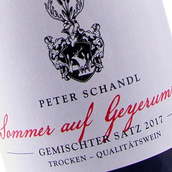 """""""Sommer auf Geyer Umriss"""" 2017 (Weingut Peter Schandl)"""
