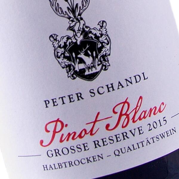 Pinot Blanc Grosse Reserve 2015 (Weingut Peter Schandl)