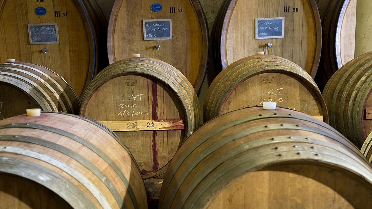 Vinařství Le Cinciole - sklep