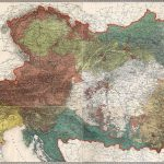 Mapa Rakousko-Uherska z roku 1855