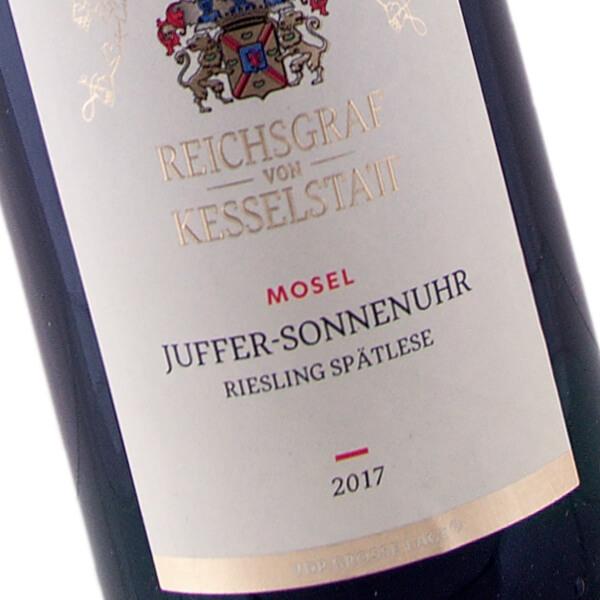 Brauneberger Juffer-Sonnenuhr Riesling Spätlese 2017 (Reichsgraf von Kesselstatt)