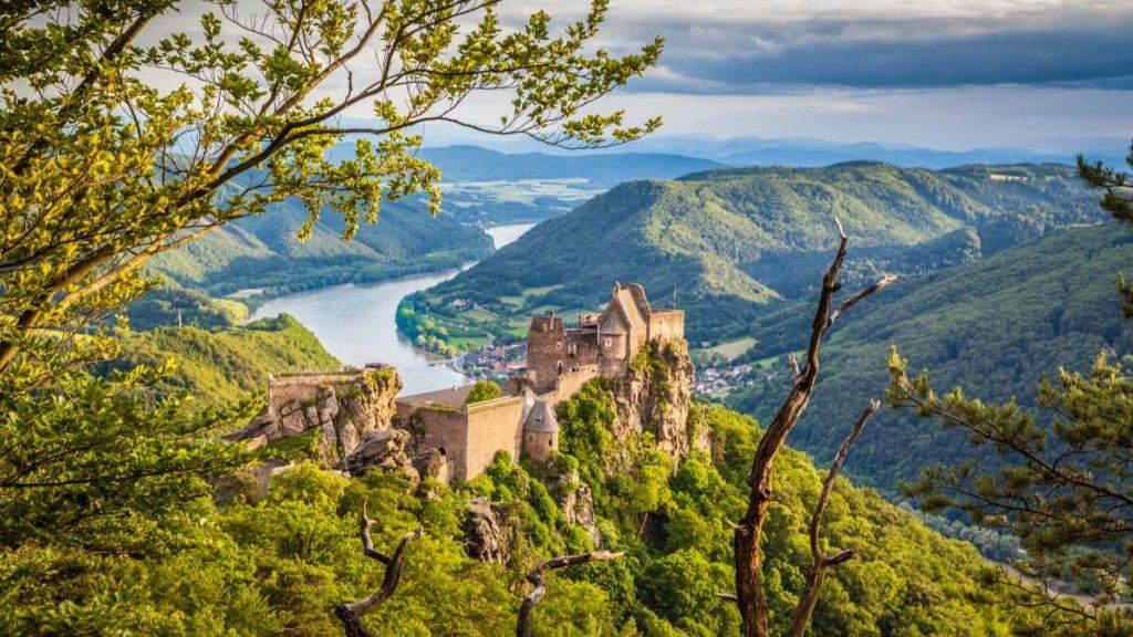 Zřícenina hradu Aggstein ve Wachau