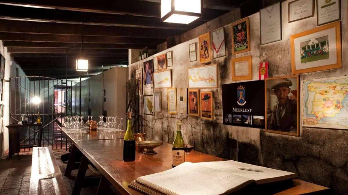 Degustační místnost vinařství Meerlust