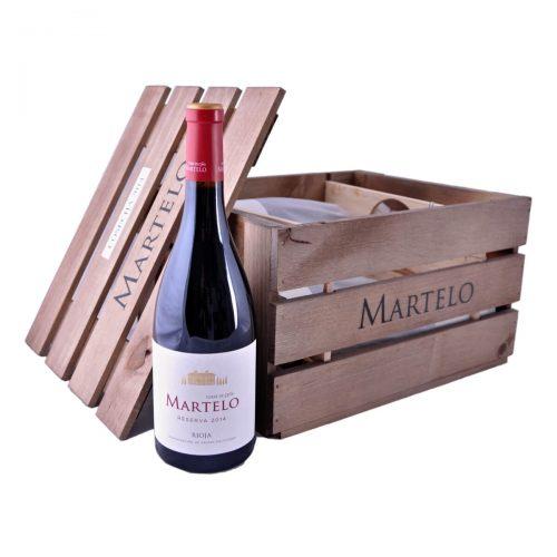 Dárkový set Martelo 2014 (Torre de Oña) v dřevěném boxu